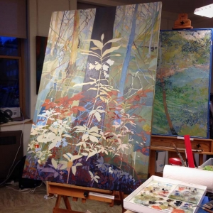 """""""Madonna of the Back Forty"""", in progress at my Magnuson Park Studio in Seattle"""