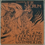Koloman Moser's cover for Ver Sacrum, 1898, official periodical of the Vienna Secession