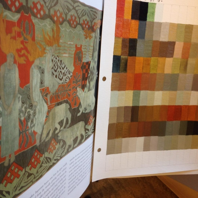1897 Norwegian tapestry by Gerhard Munthe The color arrangement surprisedhellip
